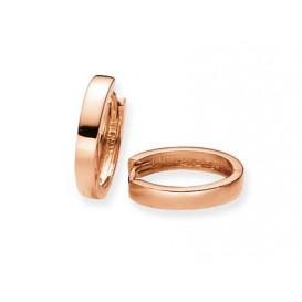 Glow Gouden Oorbellen Klapcreolen Rosé-goud14 x 2.5 mm 207.6017.14
