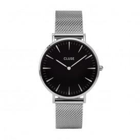 CLUSE CL18106 LA Bohème Mesh Silver Black horloge