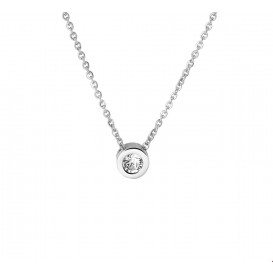 TFT Collier Staal Strass 41 + 4 cm