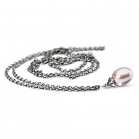 TrollbeadsTAGFA-00049-TAGFA-00055 Fantasy zilveren collier met roze parel