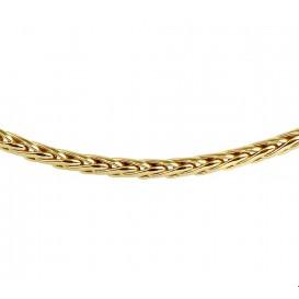 Zilgold Collier goud met zilveren kern Vossestaart 4,0 mm 45 cm