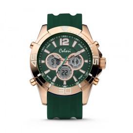 Colori Urban 5-CLD077 - Horloge - siliconen band - zwart - 47 mm