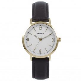 Prisma Horloge 1508 Dames Edelstaal Slimline P.1508 Dameshorloge 1