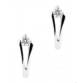 Oorknoppen Diamant 0.10 Ct. Witgoud Glanzend