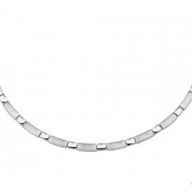 TFT Collier Staal Poli/mat 5 mm 42 + 3 cm