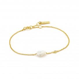 Ania Haie B019-01G armband Zilver Goudkleurig