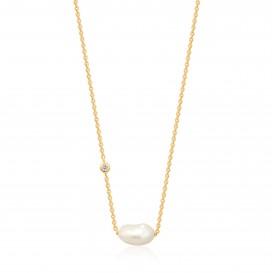Ania Haie N019-02G collier Zilver Goudkleurig