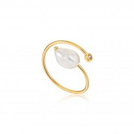 Ania Haie R019-01G ring Zilver Goudkleurig Adjustable One Size