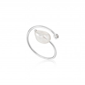 Ania Haie R019-01H ring Zilver Zilverkleurig Adjustable One Size