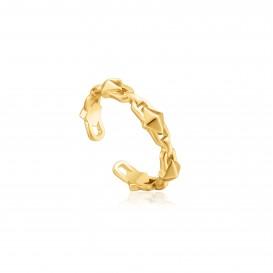 Ania Haie R025-02G ring Zilver Goudkleurig Adjustable One Size
