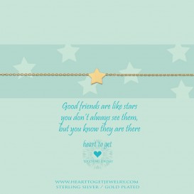 Heart To Get B105STA13G Bracelet Star Good Friends Are Like Stars, You Don't Always See Them