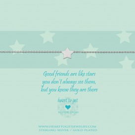 Heart To Get B105STA13S Bracelet Star Good Friends Are Like Stars, You Don't Always See Them