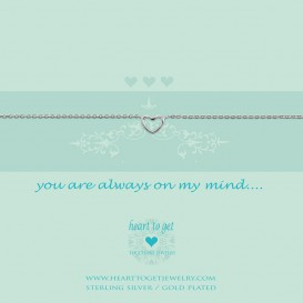 Heart To Get B27OPH12S Bracelet  Open Heart You Are Always On My Mind Silver
