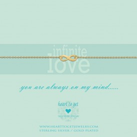 Heart To Get B87INF12G Bracelet Infinity Infinite Love Gold