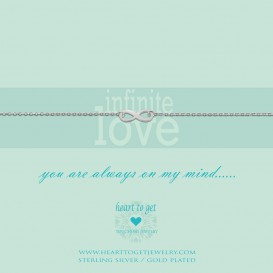 Heart To Get B87INF12S Bracelet Infinity Infinite Love Silver
