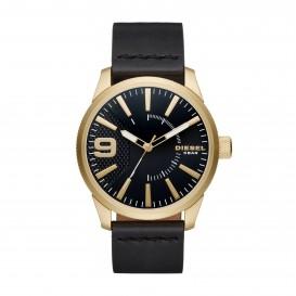 Diesel Horloge staal/leder goudkleurig-zwart 53 mm DZ1801