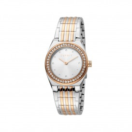 Esprit ES1L148M0095 Spot horloge Staal Rosé- en Zilverkleur Dames