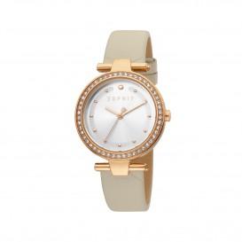 Esprit ES1L153L0035 Fine horloge Leer Crème Dames