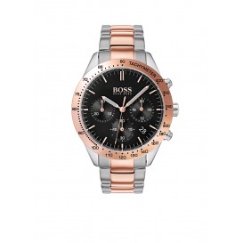 Hugo Boss HB1513584 Talent Horloge Staal  Zilver en rosékleurig Heren