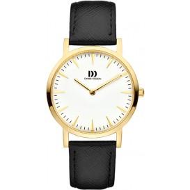Danish DesignIV11Q1235 Horloge staal goudkleurig-zwart 35 mm