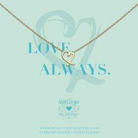 Heart To Get N370HEA17G Ketting Heart Love, Always goudkleurig