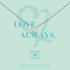 Heart To Get N370HEA17S Necklace Heart Love, Always Silver