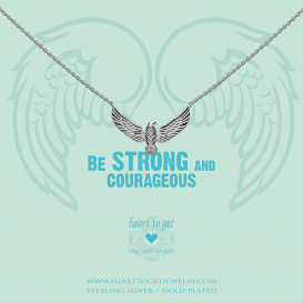 Heart To Get N385EAG17S Necklace Eagle  Be Strong And Courageous Silver