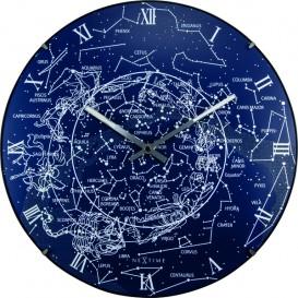 Wandklok NeXtime dia. 35 cm, bol glas, 'Milky Way dome'