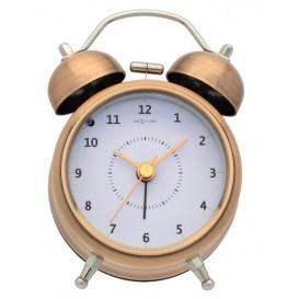wekker NeXtime dia. 9, metaal, koper, 'Wake Up'