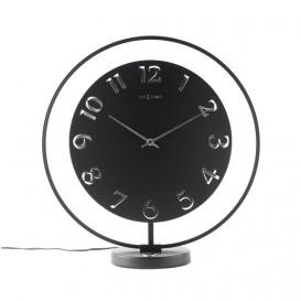 Tafelklok NeXtime dia. 40 x 40.5 cm, metaal, zwart, 'Ting   Table'