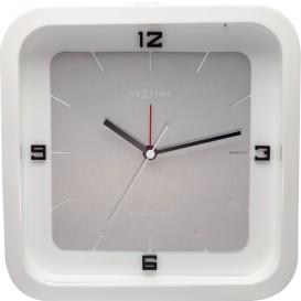 Tafelklok NeXtime Square Alarm 20 x 20 x 6 cm wit