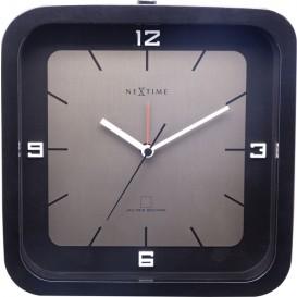 Tafelklok NeXtime Square Alarm 20 x 20 x 6 cm zwart