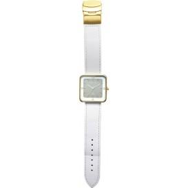 Horloge NeXtime Square Wrist wit/goud