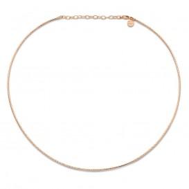 Mi Moneda Necklace Maribel 925 Silver Rosegold Plated Ketting 40-45 cm NEC-03-MARI-40-45
