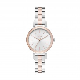 DKNY NY2593 Ellington roségoudkleurig 28 mm Dameshorloge