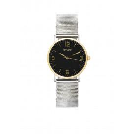 Olympic OL66DSS012B Parma Horloge Staal Zilverkleurig 30mm Dames