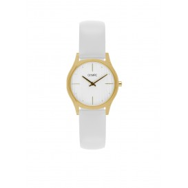 Olympic OL67DDL002 Vicenza Horloge Leer Wit 32mm Dames