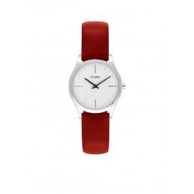 Olympic OL67DSL003 Vicenza Horloge Leer Rood 32mm Dames