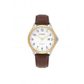 Olympic OL72HSL055B Baltimore Horloge Leer Bruin 40mm Heren