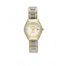 Olympic OL88DSS007B Prato Horloge Staal Zilverkleurig 29mm Dames