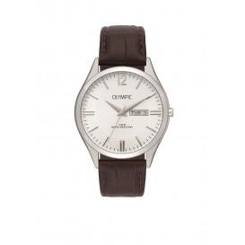 Olympic OL88HSL002 Torino Horloge Leer Bruin 40mm Heren