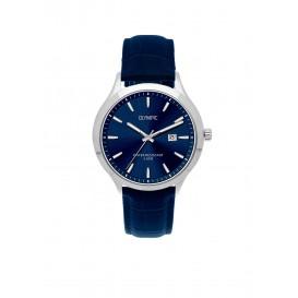 Olympic OL88HSL006 CLEVELAND Horloge Leer Blauw 42mm Heren