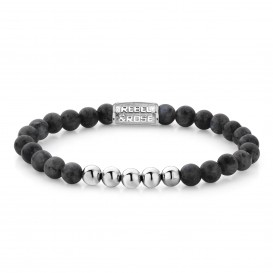 Rebel and Rose RR-60003-S-S Armband Grey Seduction - 6mm S 6mm 16.5