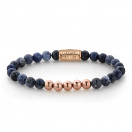 Rebel and Rose RR-60004-R-S Armband Midnight Blue - 6mm - rose gold plated S 6mm 16.5