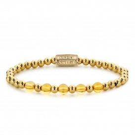 Rebel and Rose RR-60061-G-S Armband Yellow Gold meets Cheerfull Citrine 16,5 cm