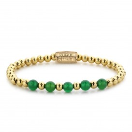 Rebel and Rose RR-60062-G-M Armband Yellow Gold meets Green Harmony - 6mm M 6mm 17.5
