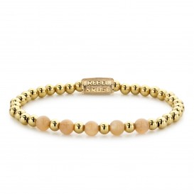 Rebel and Rose RR-60063-G-M Armband Yellow Gold meets Sunset Beach - 6mm M 6mm 17.5