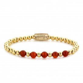 Rebel and Rose RR-60064-G-M Armband Yellow Gold meets Amazing Grace - 6mm M 6mm 17.5