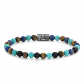 Rebel and Rose RR-6S006-S-M Armband Mix Turquoise 925 - 6mm M 6mm 17.5