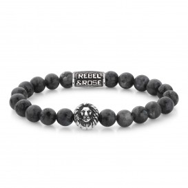 Rebel and Rose RR-8L025-S-S Armband Grey Seduction S 8mm 16.5